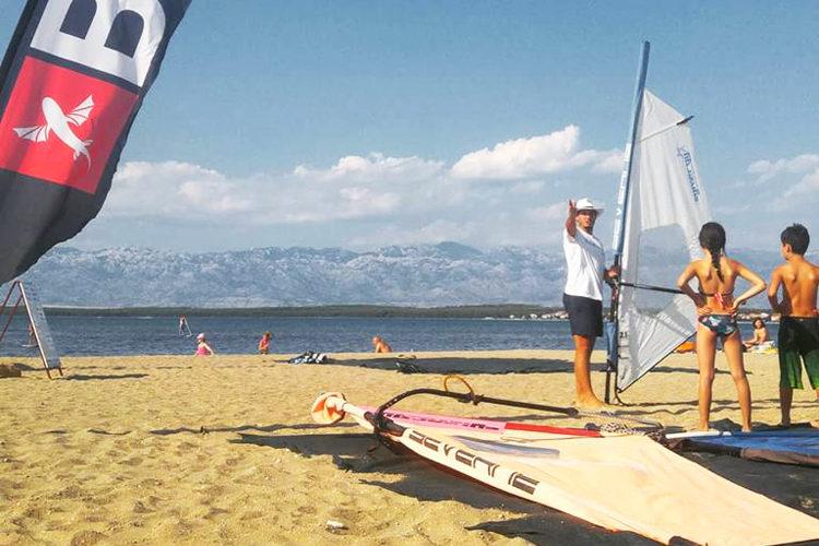 Windsurfing Croatia, kids course Nin, Croatia